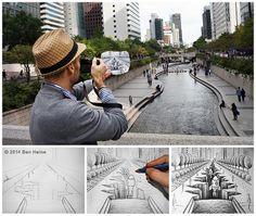 Sketch in Progress - Pencil Vs Camera - Using real life inspiration to create art