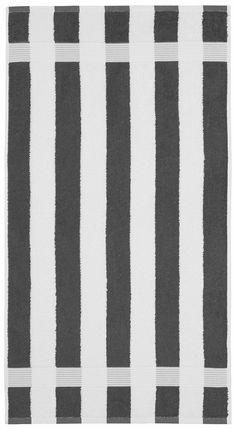 Dieses moderne Badetuch »Sina Streifen« der Marke my home besticht durch die peppige Farbauswahl und die gerade verlaufenden Linien. Bringen Sie doch mal eine frische Note in Ihr Badezimmer. Der tolle Walkfrottee aus 100% Baumwolle (mit dem Kauf unterstützen Sie den nachhaltigen Baumwollanbau von Cotton made in Africa) hat eine schön weiche Oberfläche und ist sehr hautfreundlich. Die Qualität h...