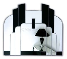 Savoy Original Handcrafted Art Deco Wall Mirror - Art Deco - Mirrors
