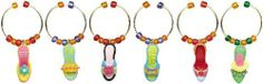 Tropical Fabulous Fancy Feet Vino Wine Charm S/6 by Boston Warehouse. $8.98. Each measures 1/2 inch in length. Charms attached to metal rings. Six piece set. Boston Warehouse Tropical Fabulous Fancy Feet Vino Wine Charm S/6