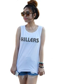 The Killers Tank Tops White Camo Fashion Unisex Artist by dazztees, $14.99