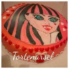 Monster High Torte Monster High, Four Square, Birthday Cake, Desserts, Food, Tailgate Desserts, Birthday Cakes, Meal, Dessert