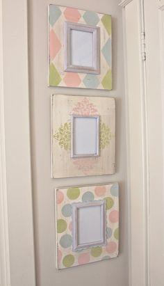 scrapbook paper frame, mirror, nurseri, picture frames, frame idea, pictur frame