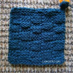 Amazing loom-knit basket-weave square from LoomaHat. http://www.knit-a-square.com