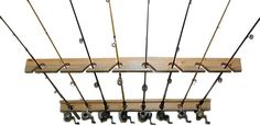 Fishing Rod Storage Rack Holds (8) Ceiling Or Vertical On Wall
