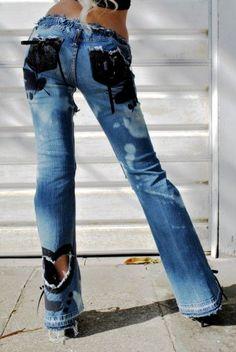 By Alina mexton Pantalon Femmes Pantalon De Training Jean Skinny Boyfriend Jean Wetlook XS-L