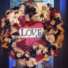 Valentine Love Wreath