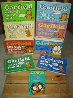 Garfield comic books. The only thing I ever checked out from the library in middle school. And I read everyone of them.
