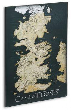 Game of Thrones Canvas Map Poster | Geek DecorGeek Decor