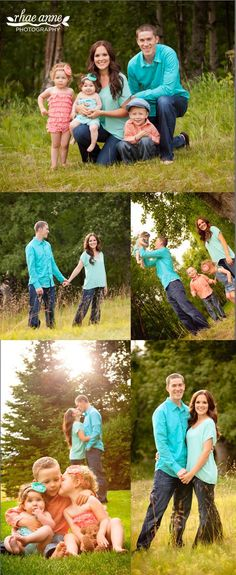 Fun family poses - Family Photography --- We love this color coordinated #photoshoot #family is everything #familyphoto #familyphotography #livelovelaugh
