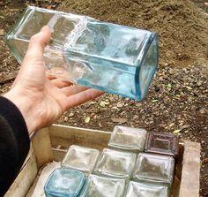 recycled glass liquor bottles