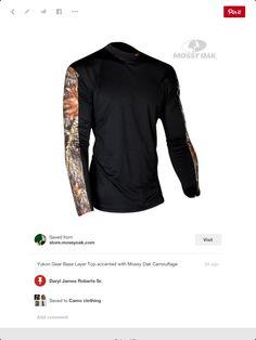4fe906b4 Yukon Gear Medium Weight Thermal Top, Black/Mossy Oak Break Up, Men's.  Daryl Roberts · Camo T-shirts