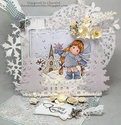 Cards made by Chantal: Nieuwe wedstrijd bij Duymelot - Wit op witte kerstkaart!