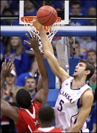 If you try and score when Jeff Withey is on the court, you're gonna have a bad time. #Blockparty