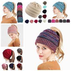6e3710455da Women Beanietail Messy High Bun Ponytail Stretchy Knit Beanie Skull Winter  Hat  fashion  clothing  shoes  accessories  womensaccessories  hats (ebay  link)