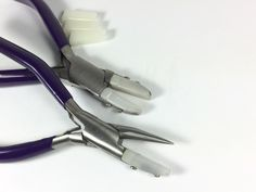 Nylon Jaw No Mar Wire working combo Straightening Pliers, round nose. Don't be fooled by cheaper imitations by Romazone on Etsy