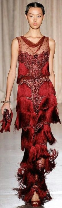 Asian inspired gown. Sweet!