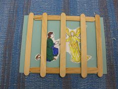 Acts Paul's Second Journey-Paul & Silas in Prison Craft (Although this is Peter's release from prison by an angel, it can easily be adapted by putting pictures of 2 men, Paul & Silas, behind the craft sticks & omitting the angel. Sunday School Crafts For Kids, Bible School Crafts, Bible Crafts For Kids, Sunday School Activities, Preschool Bible, Vbs Crafts, Bible Activities, Preschool Crafts, Paul And Silas