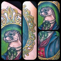 Details of @topherrenato 's otter #tattoo! #tattoos #nofilter by jessversus, via Flickr