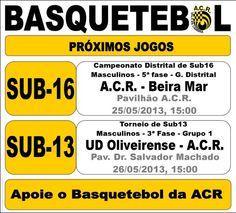ACR: Basquetebol > 25 e 26 Maio 2013 #ValeDeCambra