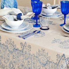 ARABESQUE PRINT TABLECLOTH AND NAPKIN - Tablecloths & Napkins - Tableware | Zara Home United Kingdom