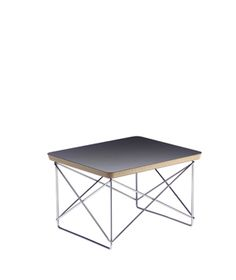 Vitra Eames LTR Occasional Table designed by Charles & Ray Eames in Charles and Ray Eames designed the LTR table as a small, variable side table for their Eames house. The LTR has a laminate table top available in 3 finishes and stands on their