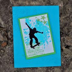 Extreme Skateboarder Birthday Card. $5.00, via Etsy.