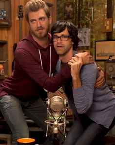 "Rhett/Link Forever — mythical-rhink: ""Just get on your knees."" (x)"