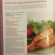 Salmon with Green Curry Sauce