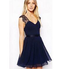 vestidos cortos color azul marino - Buscar con Google