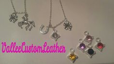 Custom necklaces by Vallee Custom Leather.   Facebook.com/ValleeCustomLeather