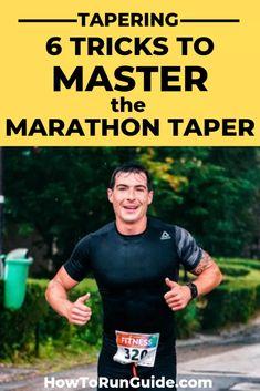 Tapering: 6 Tricks to Master the Art of the Marathon Taper Running Humor, Running Workouts, Running Tips, Running Training, Running Songs, Treadmill Workouts, Half Marathon Training Plan, First Marathon, Marathon Running