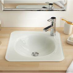 Vasque à encastrer par dessous rectangulaire 46x34 cm céramique ...