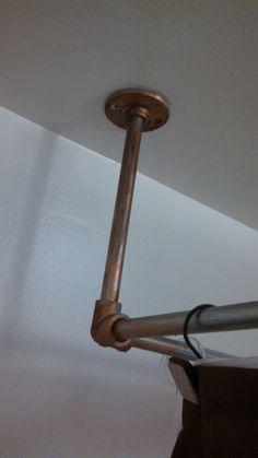 DIY clawfoot tub shower rod