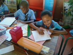 Grade 3 pupils Temba Kwapong and Emely Chakenyane from Ipolokeng Primary School in Diepsloot, Gauteng here seen doing addition and multiplication Chess Program, Grade 3, Multiplication, Primary School, South Africa, Education, Children, Life, Young Children