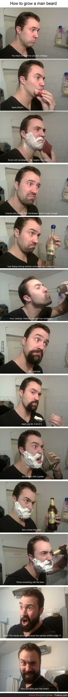 How to grow a beard!! So trying this