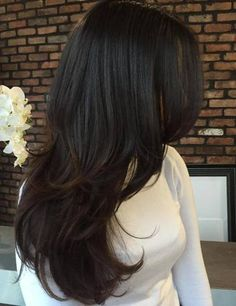 Multi layered hairstyles for long hair