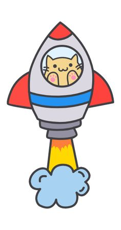 Small Kittens, Kittens Cutest, Cute Cats, Space Cat, Little Doodles, Pretty Cats, Fluffy Animals, Cat Stickers, Cute Chibi