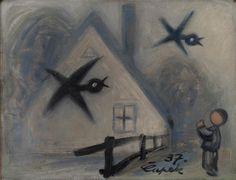 Josef čapek, Ptáci v mlze, 1937 Modern Art, Cubism Art, Art Painting, Painter, Illustration, Painting, Art Boards, Art, Woodcut