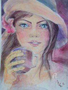 Female Art, Disney Characters, Fictional Characters, Art Gallery, Disney Princess, Cute, Art Paintings, Bubbles, Woman
