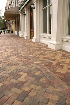 A favorite with architects and landscape designers for both commercial and residential projects, our Brick offers the contemporary sophistication of a simple brick shape to make your choice of patterns virtually unlimited. Paver Walkway, Brick Pavers, Hardscape Design, Landscaping Supplies, Backyard, Patio, Tampa Florida, Outdoor Living, Outdoor Decor
