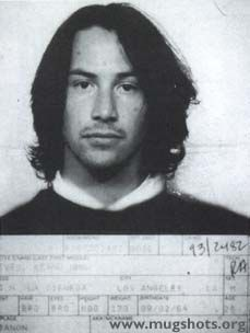 Keanu Reeves- Arrested for DUI on May 5, 1993 in Los Angeles.