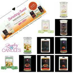 Today is the LAST DAY to Indulge in the savings!  Save 20% on these scrumptious scents! #scentedgems #naturalsoy #candles #tarts #ChocolateFudge  #KeyLimePie #PecanPie #IrishCream #PumpkinSouffle #2giftsin1 #homedecor #jewelry   Use code: SomethingSweet at checkout.  Www.jewelryincandles.com/store/marinamcleod
