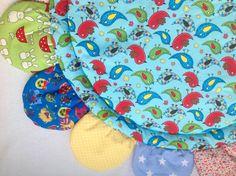 Babies Play Mat, Birds - Tummy Time Mat - Travel Mat by FredtheNeedledolls on Etsy