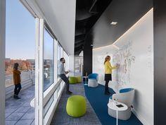 Office Tour: Noblis Offices – Reston – Executive Home Office Design Workspace Design, Office Workspace, Office Interior Design, Office Interiors, Office Decor, Office Designs, Creative Office Space, Smart Office, Open Office