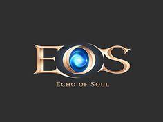 Eos game BI designed by Jihyun Jung. Fantasy Logo, Video Game Logos, Casino Logo, Game Logo Design, Weird Words, Text Style, Typography Logo, Creative Logo, Cool Logo