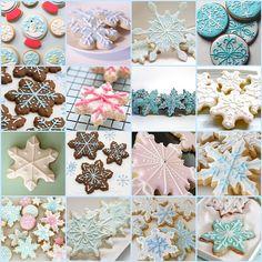 Snowflake Cookies by *kimmie*, via Flickr