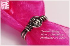 'Simplicity Rose Black and Silver Custom Ring' is going up for auction at 12pm Sun, Jul 29 with a starting bid of $5.