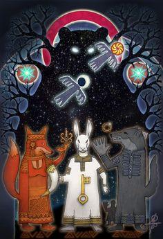 """Winter Fairy-tales about Animals"" by Maxim Sukharev Russian Artist - vesemir.blogspot.ru"