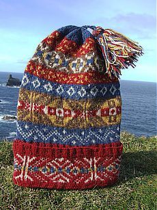 Fair Isle: Traditional Hand Knit Fair Isle Fisherman's Keps Hats for Auction) Museum Fund Raiser Fair Isle Knitting Patterns, Knitting Designs, Knitting Projects, Knitting Tutorials, Knitting Ideas, Lace Knitting, Knit Crochet, Vintage Knitting, Crochet Granny